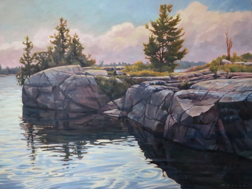Georgian Bay Patterns,30 x 40, oil