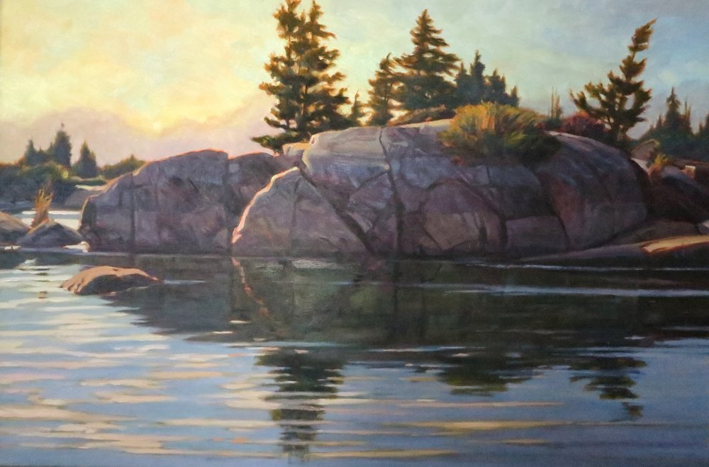 Georgian Bay Solitude,24 x 36, oil