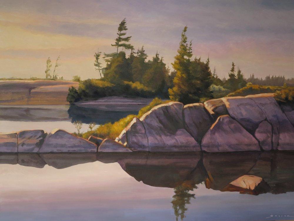 Evening Bayfield Inlet,36 x 48, oil