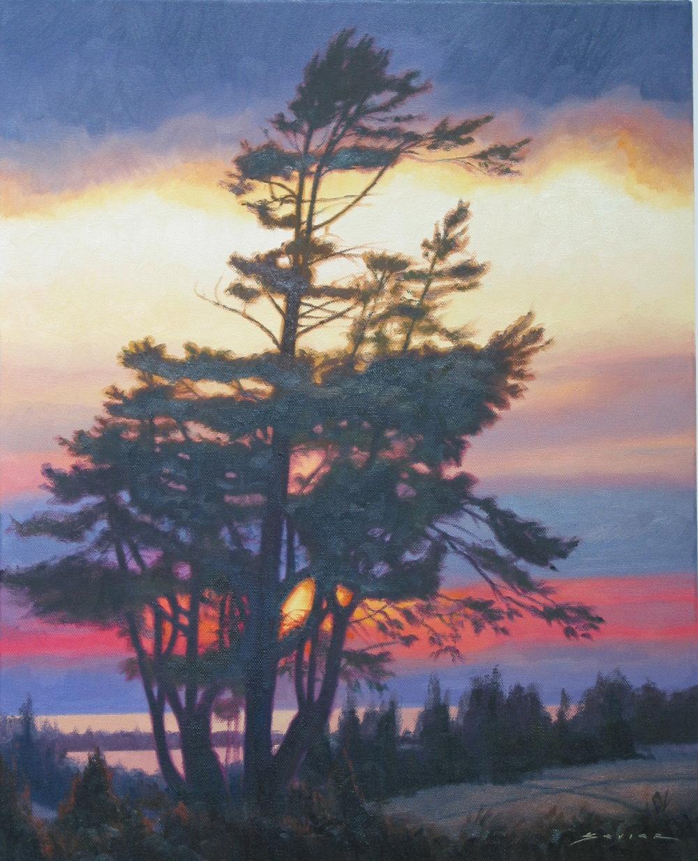 Sunset, 20 x 16, oil