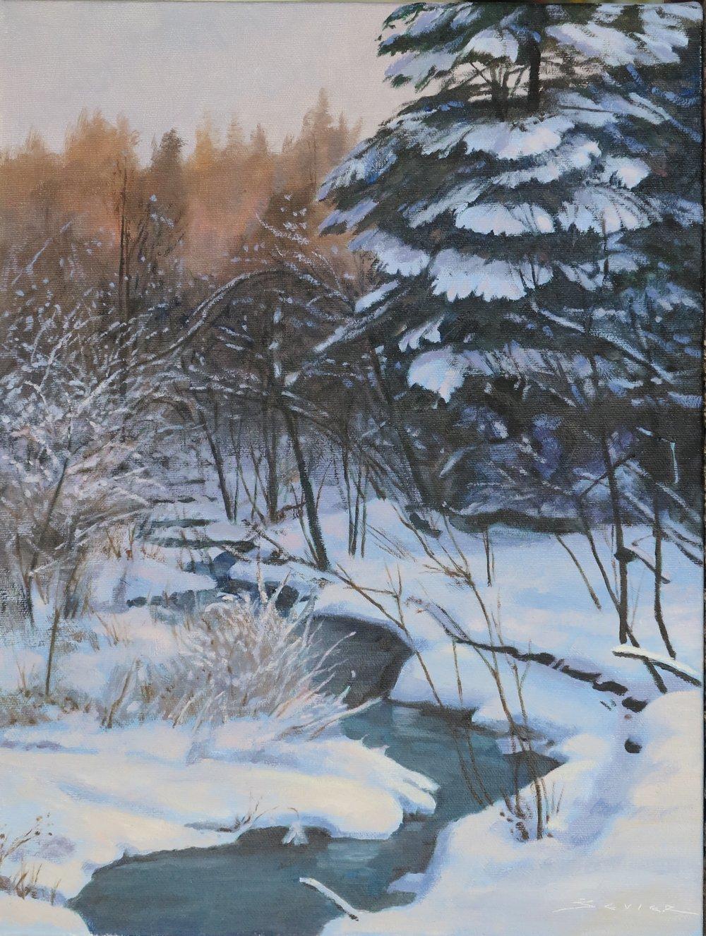 Frosty Morn, 16 x 12, oil