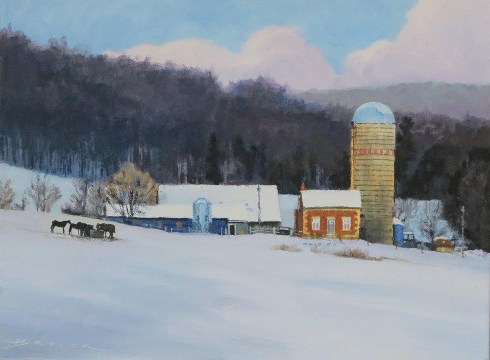 December Winter, 12 x 16, oil