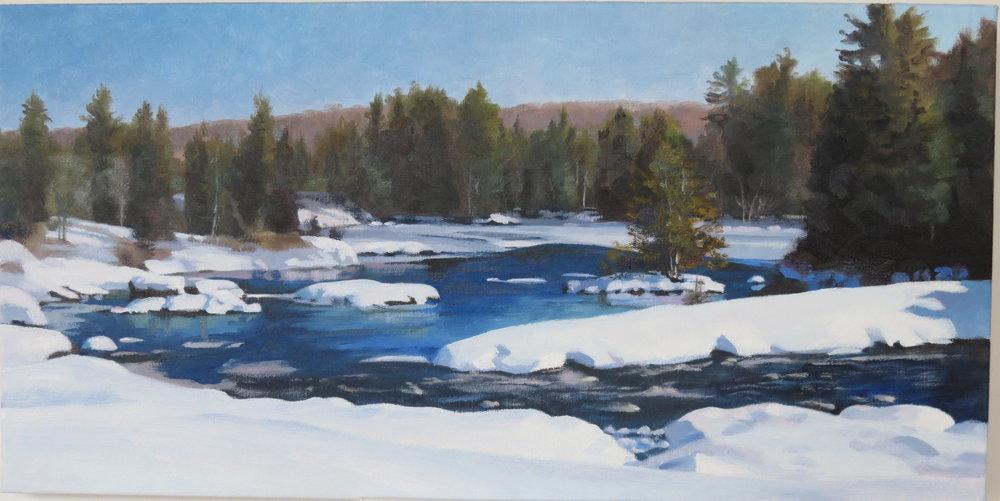 Madawaska River, 10 x 20, oil