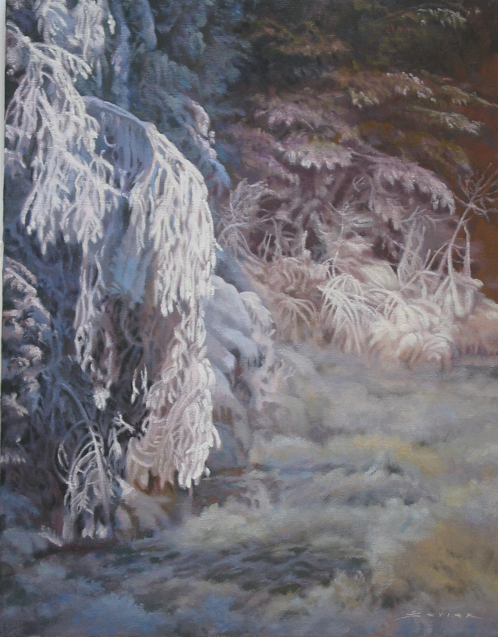 Winter Magic, 18 x 14, oil