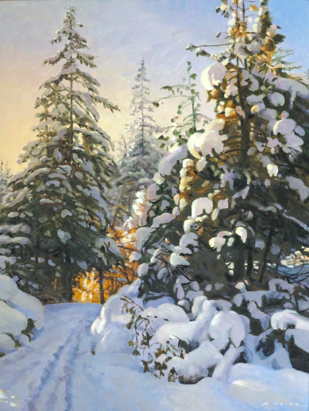Winter Magic, 25 x 20, Oil