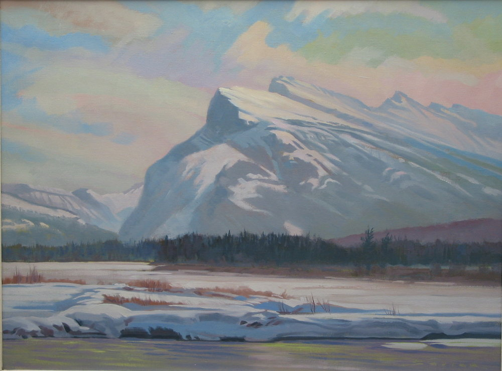Mount Rundle/Alberta, 24 x 32, oil