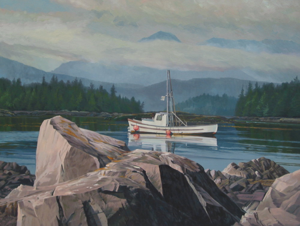 Queen Charlotte Island, 36 x 48, oil