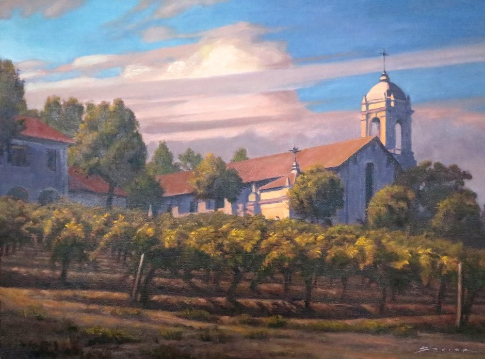 Christian Brothers & Hess, Napa, 18 x24, oil
