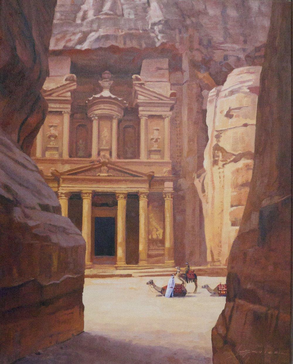 Petra/Jordan, 20 x 16, oil