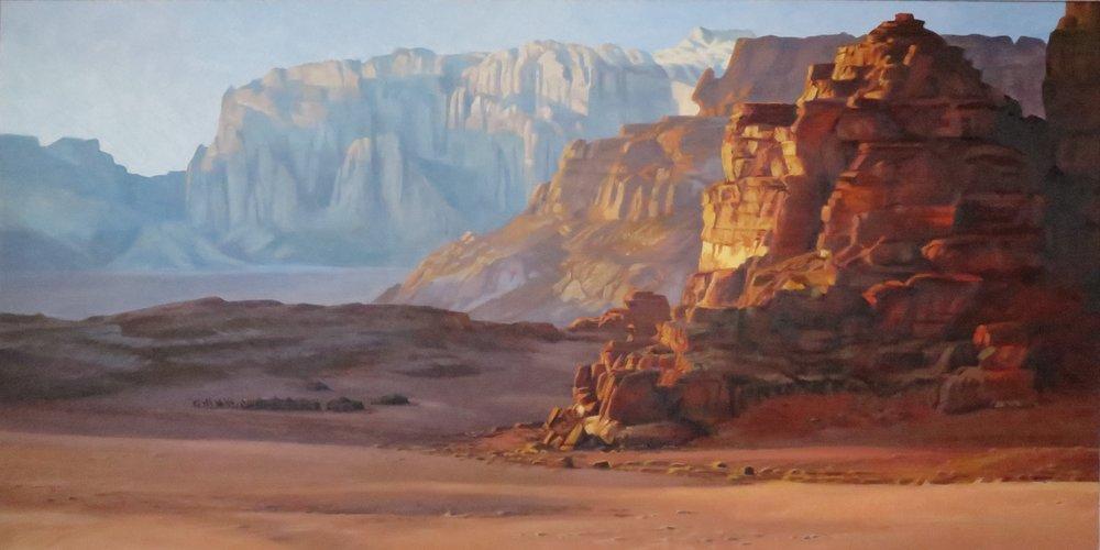 Wadi Rum/Jordan, 30 x 60, oil