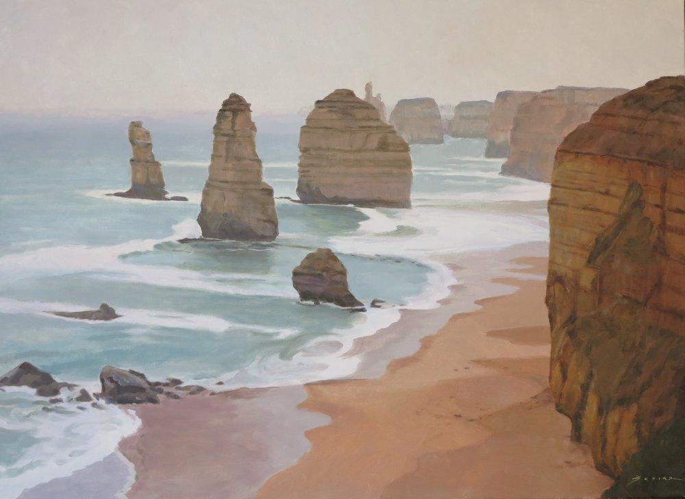 12 Apostles/Australia, 22 x 30, oil