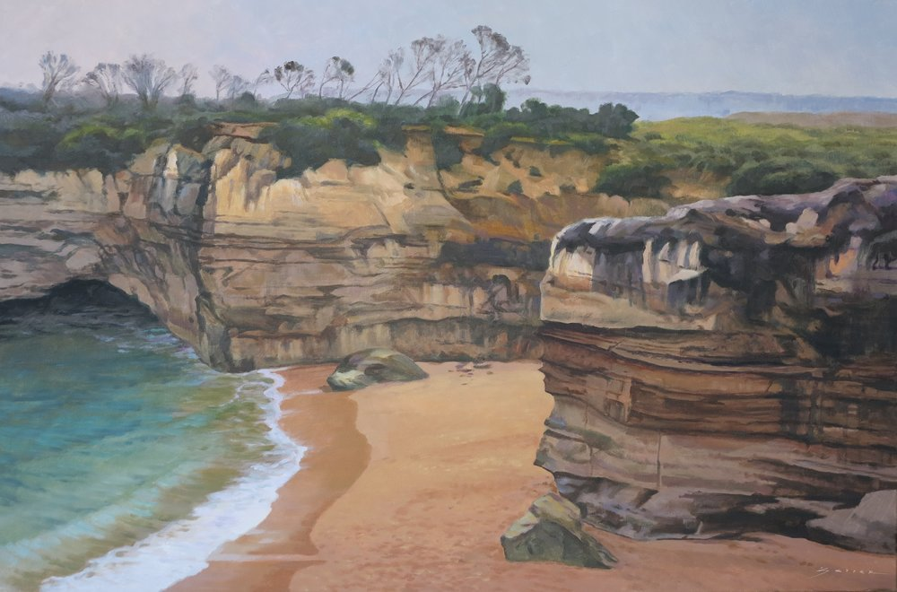 Loch and Gorge II/Australia, 24 x 36, oil
