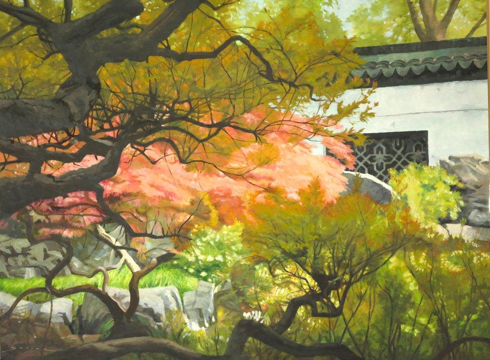 Yu Garden/Shanghai, 30 x 40, oil