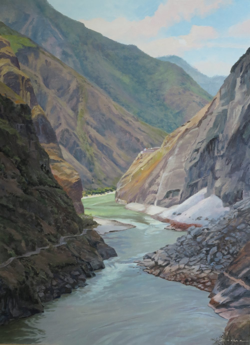 Tiger Leaping Gorge, 30 x 22, oil