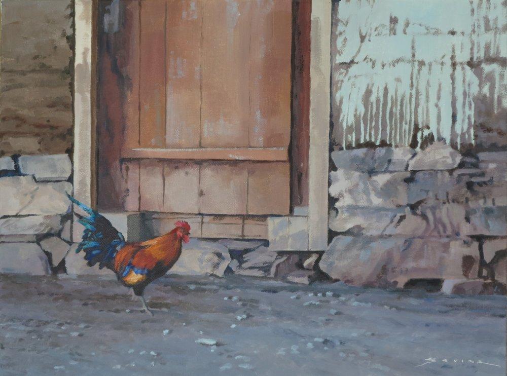 Shangri-La Tibetan Farm, 12 x 16, oil
