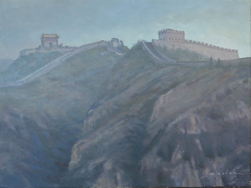 The Great Wall of China, 12 x 16, oil