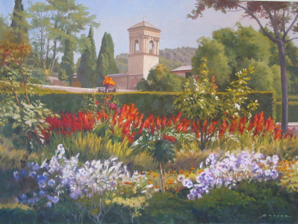 Alhambra Garden/Spain, 18 x 24, oil