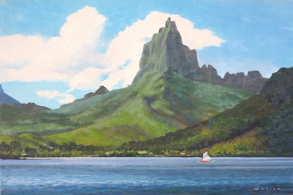 Cook's Bay Moorea, 12 x 18, oil