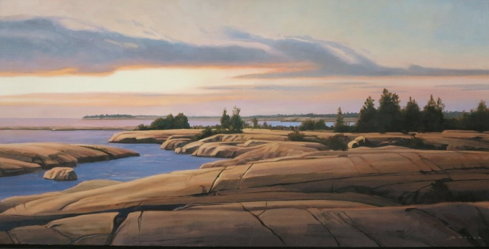 Another Day at Painted Rocks,20 x 40, oil