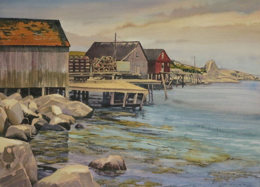 On The Way to Peggy's Cove/ N.S. 22 x 30 watercolour