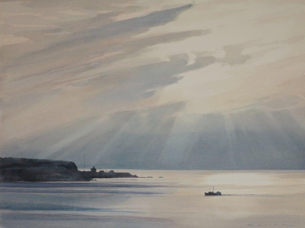 End of Day/Cheticamp, Cape Breton Is. 22 x 30 watercolour