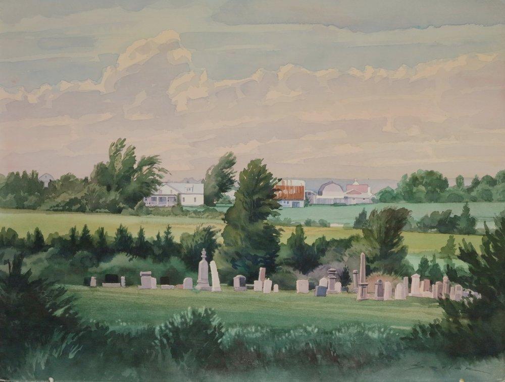Nova Scoti near Pugwash 22 x 30 watercolour