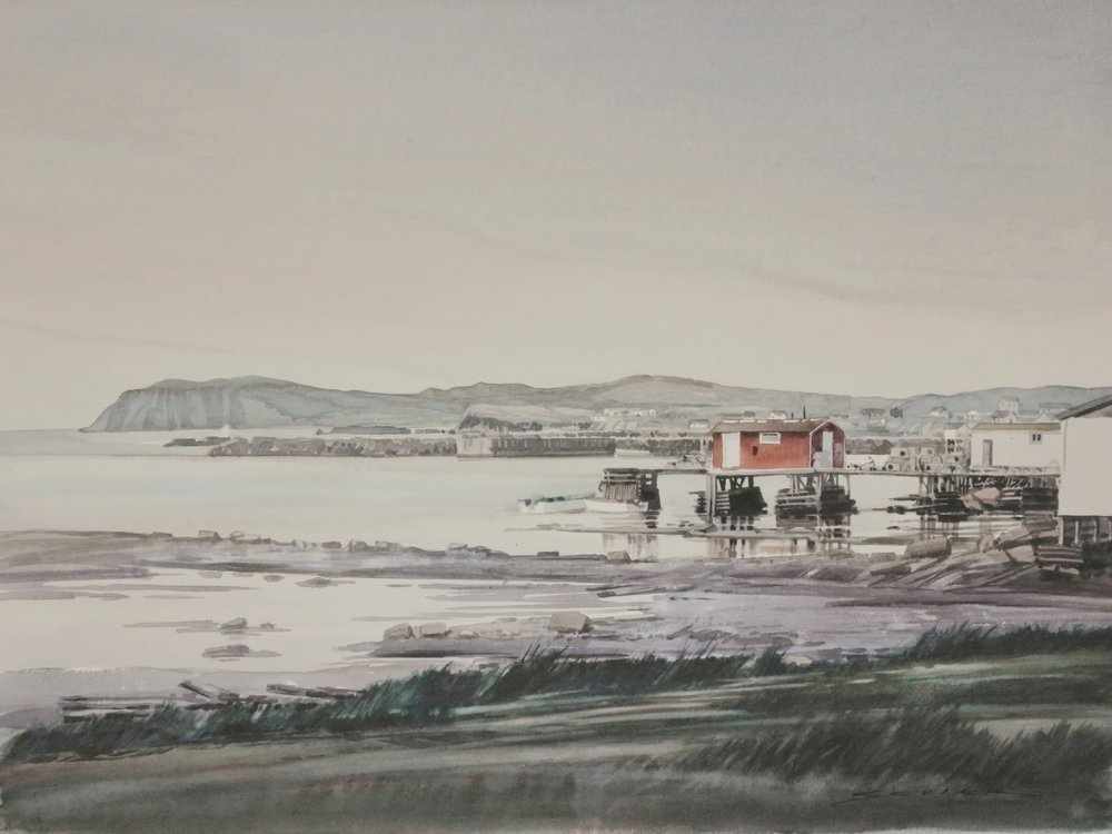 Twillingate, Nova Scotia 22 x 30 watercolour