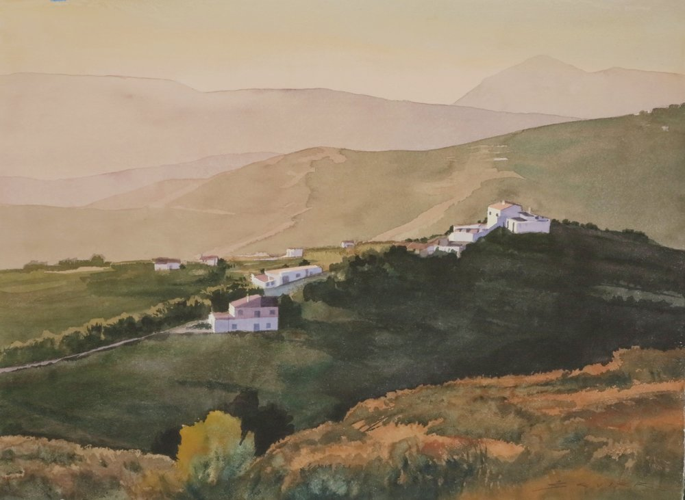 On The Way to Friliana/Spain 22 x 30 watercolour
