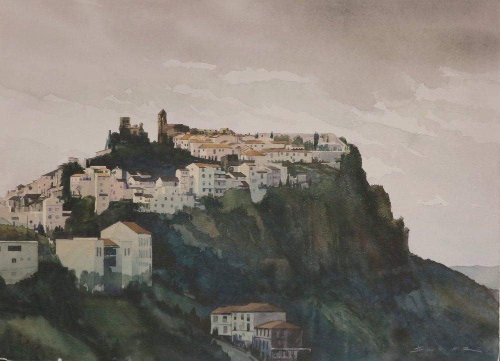 Casares/Spain 22 x 30 watercolour