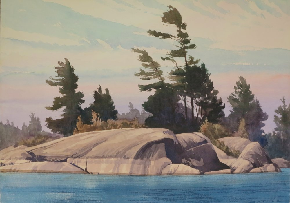 Goergian Pines 29 x 41 watercolour