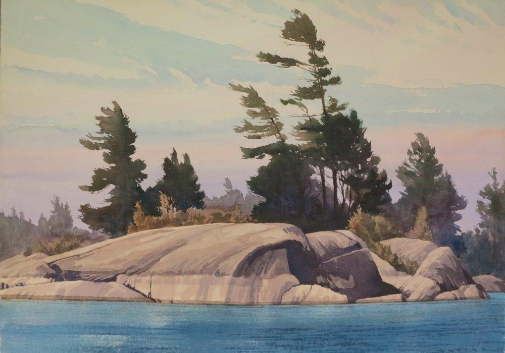 Goergian Pines 29 x 41 watercolour