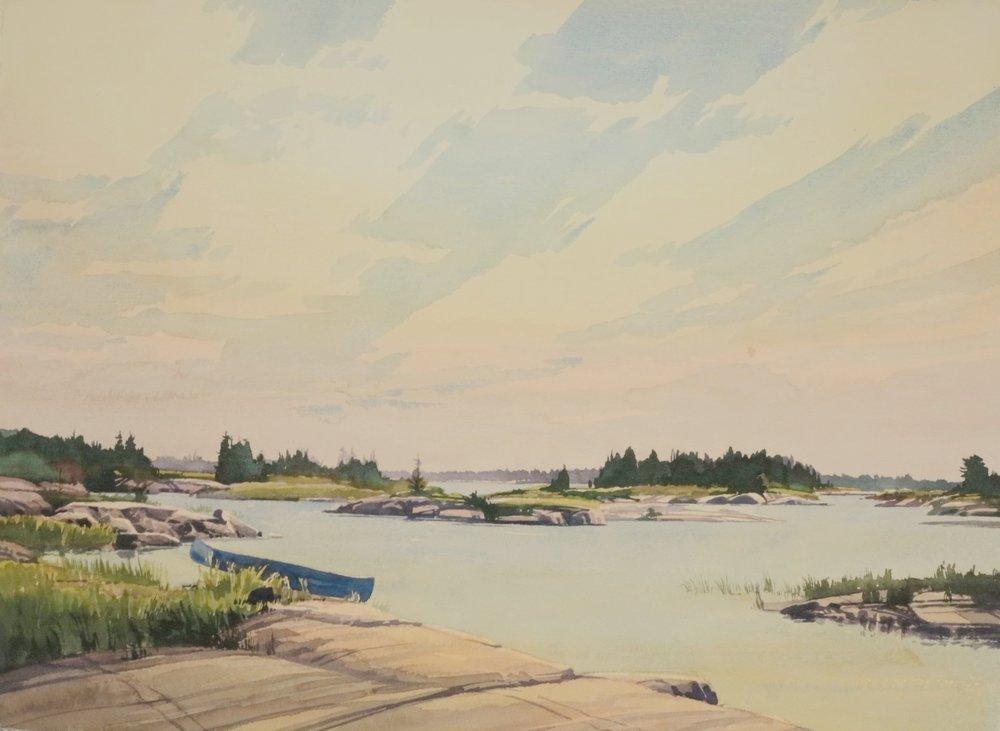Sunny Geo. Bay 22 x 30,watercolour