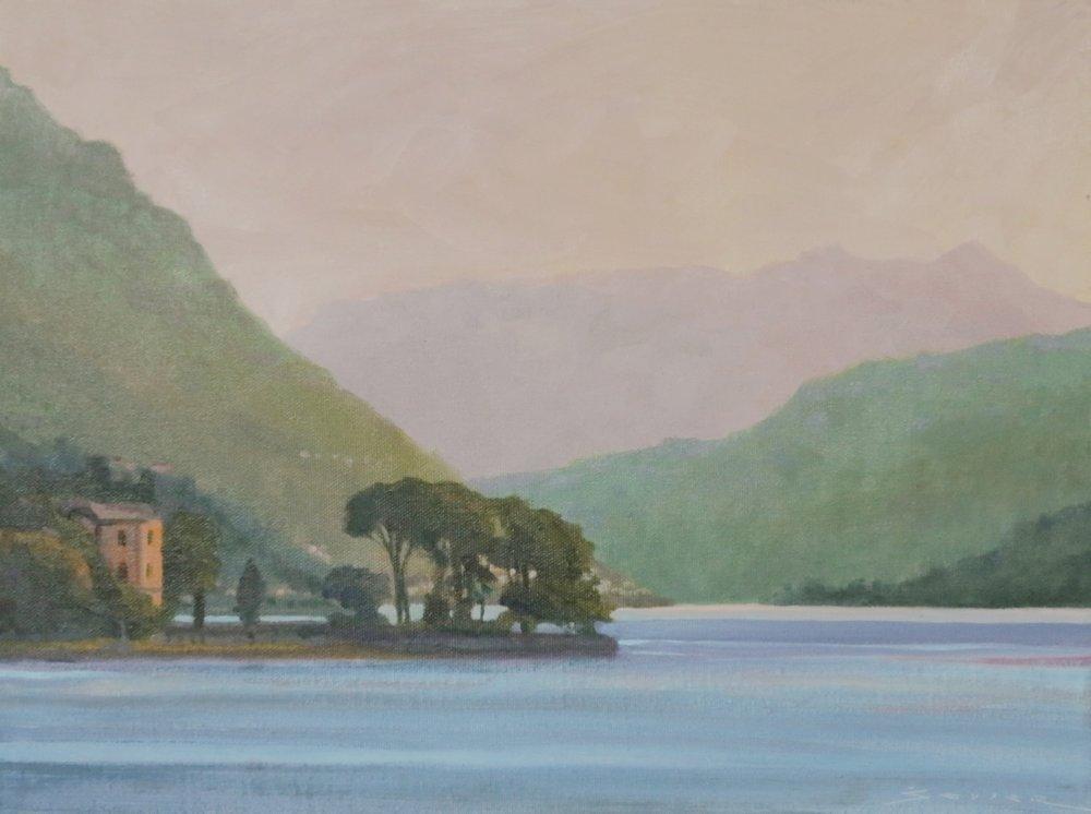 Lake Como/Italy, 12 x 16, oil