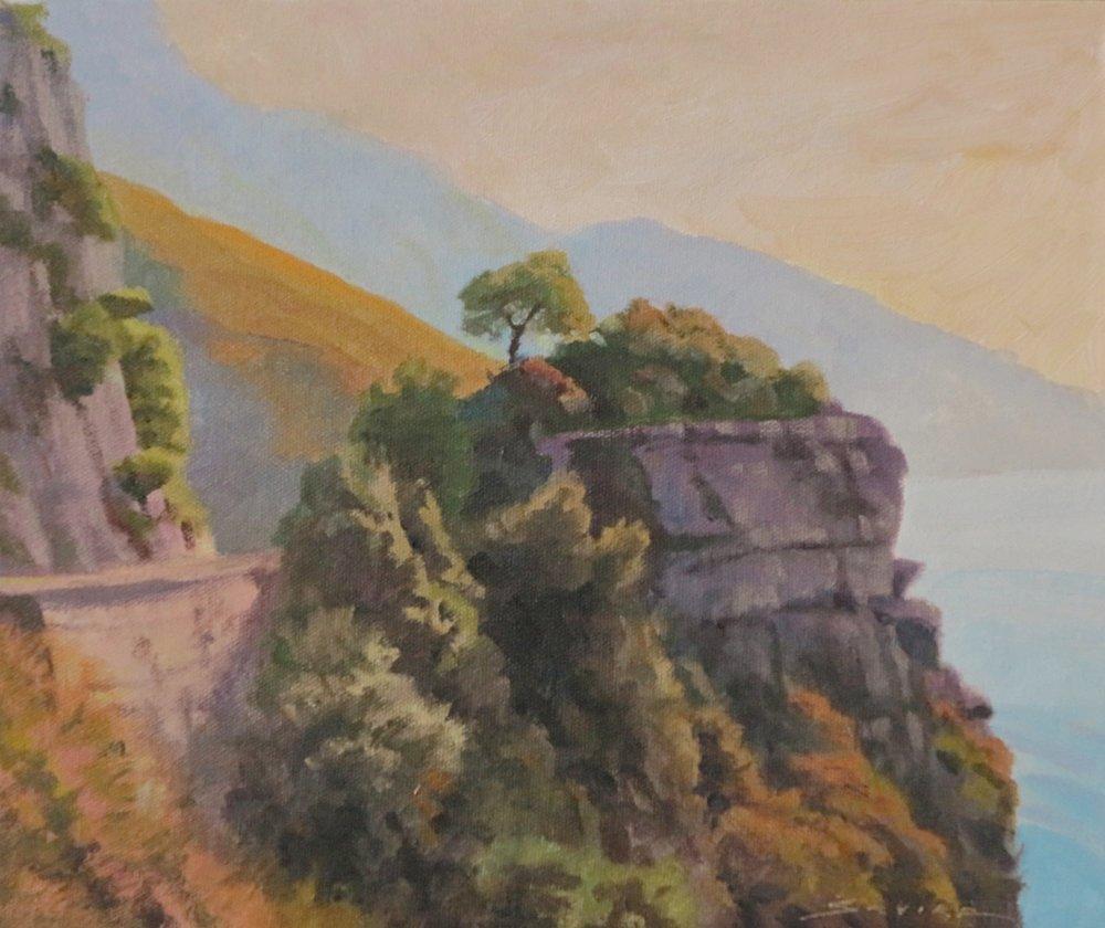 Amalfi Coast/Italy, 10 x 12, oil