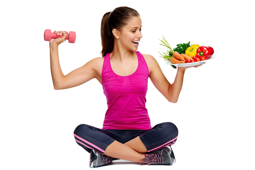 Exercise woman with fruit plate.jpg