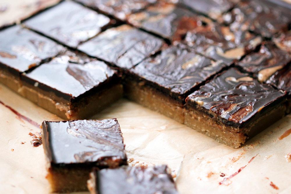 Peanut Butter Millionaires Shortbread