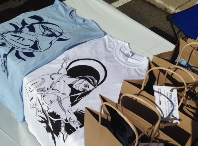"""Limited edition Tees featured here:   """"Madonna""""   and   """"Blue Jay""""    ©ericawhiting"""