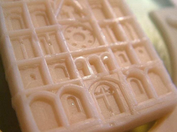 Making molds for soap bars