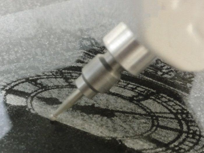 Granitograv granite and glass photo engraving tool