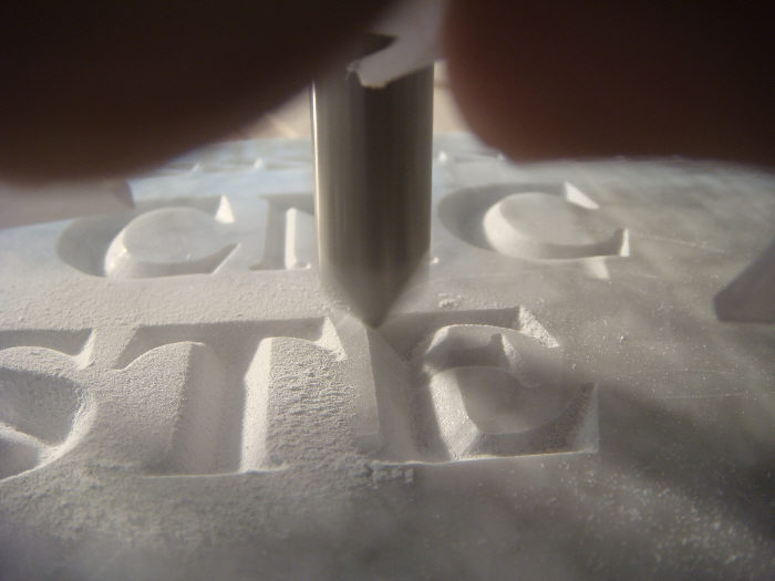 Marble CNC carving in action