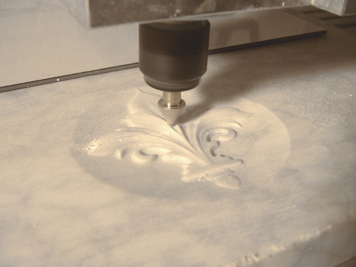 Relief carving in marble with High-Z CNC machine
