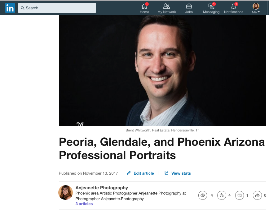 Click to read more about your best headshot on Linkedin