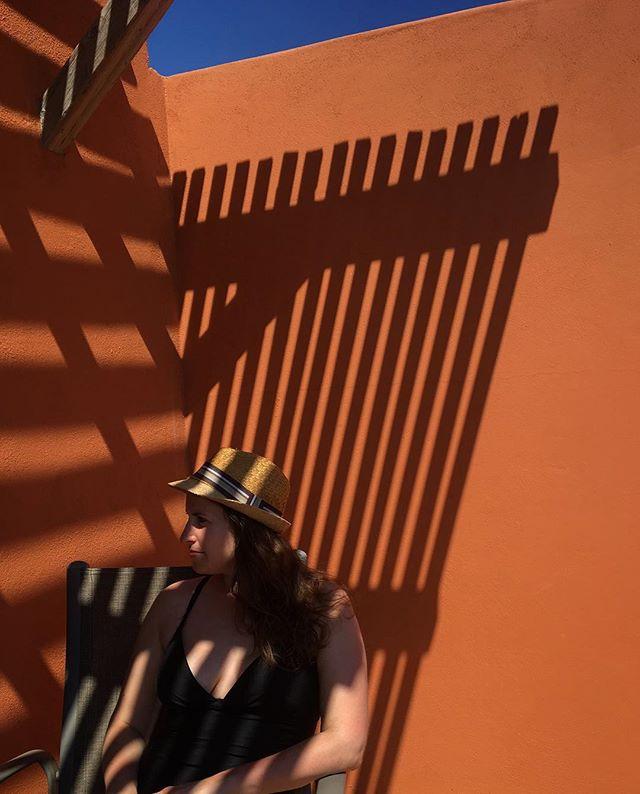 Rach in that fierce desert sun. 🧡 #latergram #baja