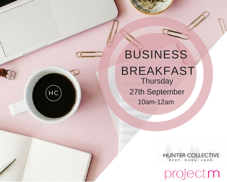 BUSINESS BREAKFASTThursday 27th September - How to deal with the ups and downs of working solo.The Business Breakfast brings creative entrepreneurs and freelancers together to network, share experiences and chill.