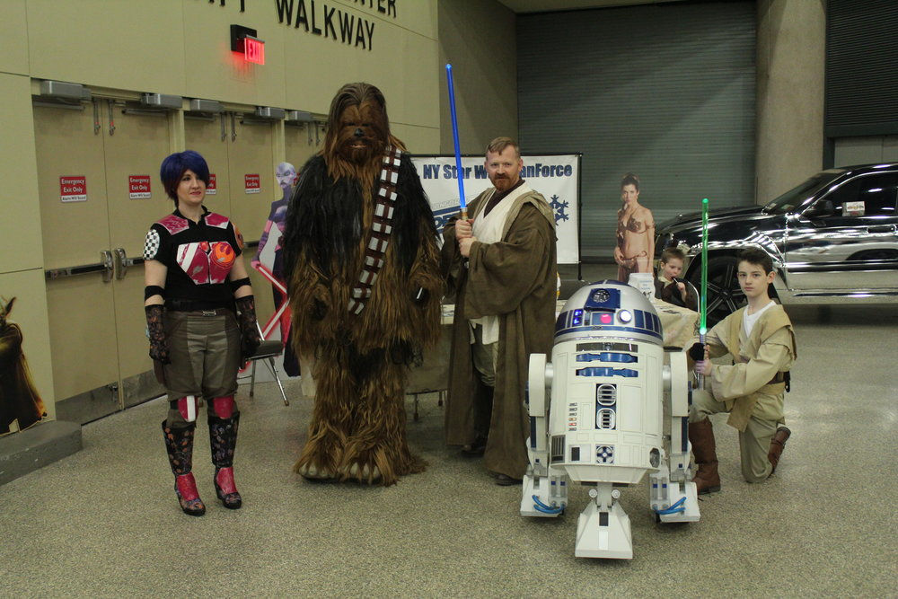 The North Ridge Fan Force - Star Wars Cosplay Characters group will be returning again to the 2018 Buffalo Motorama on Saturday March 31st