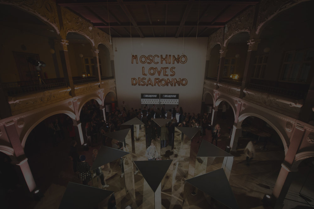 "- Following up on the successful ""Disaronno spreads love"" campaign we launched the exclusive ""Disaronno loves Moschino"" limited edition bottle with Italian Fashion house Moschino with a big launch event here in Germany."