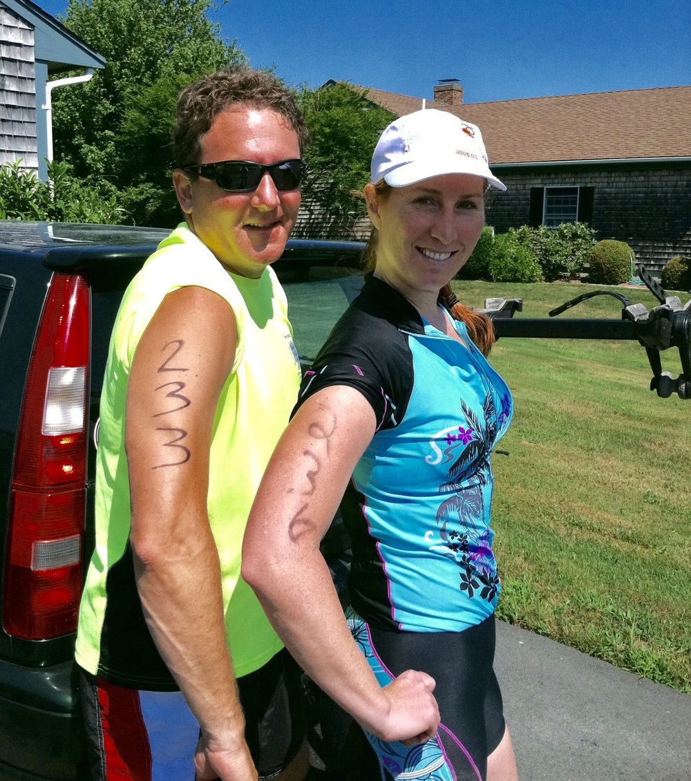 Navy Station Sprint Tri with Andrew (my husband)