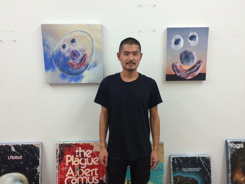 Chris Oh in his Bushwick studio
