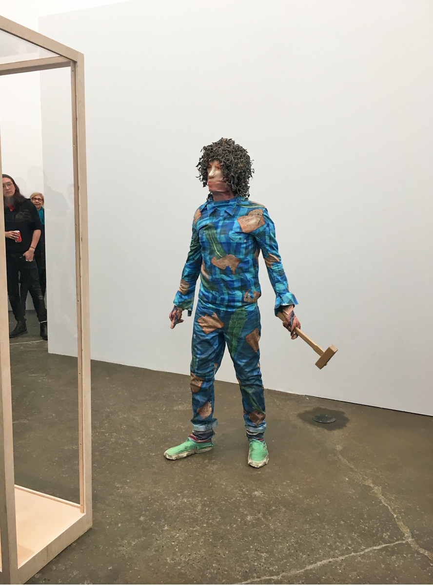 "David Kennedy Cutler performing, wearing  Second Skin . Photo by Sara Greenberger Rafferty, courtesy of the artist. People who know Sara are like, ""Wait, courtesy of which artist? David or Sara?"" Well, this is the art world; you decide ;-)"