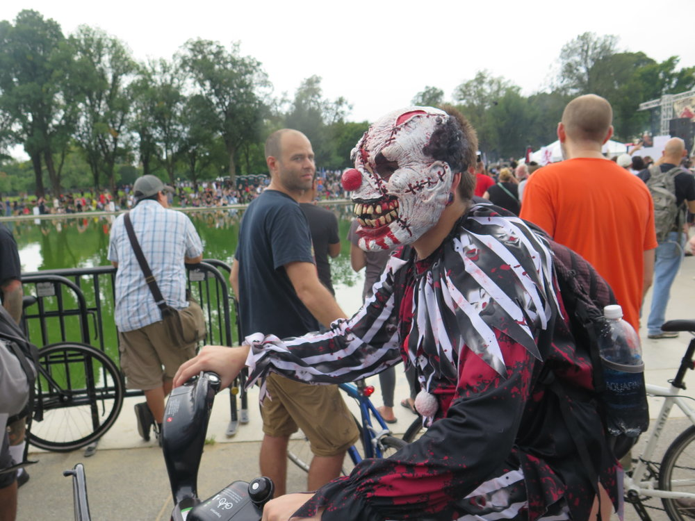 Jacob, AKA   @wicked_clown502  , traveled to the march from Louisville, KY.
